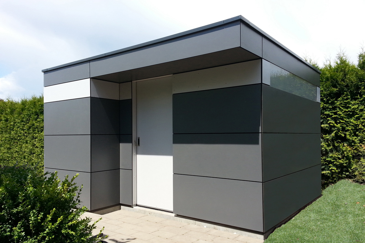 gartenhaus box das kubus gartenhaus. Black Bedroom Furniture Sets. Home Design Ideas