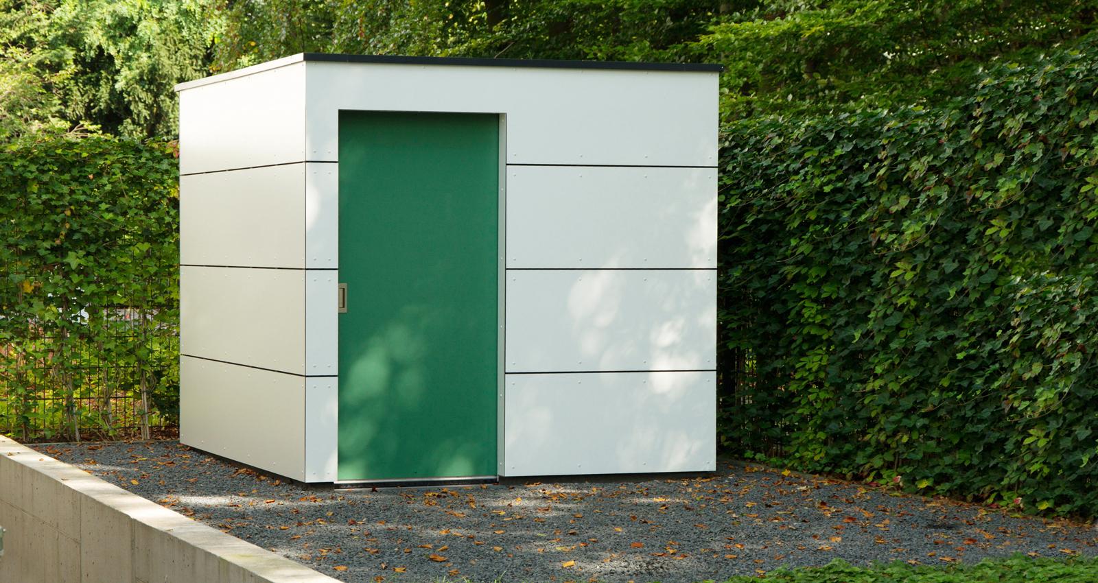 Gartenhaus box das kubus gartenhaus for Design gartenhauser